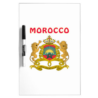 Morocco Coat Of Arms Dry Erase White Board