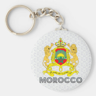 Morocco Coat of Arms Key Ring