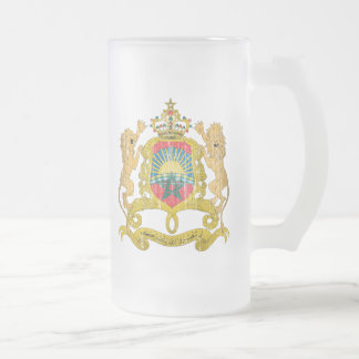 Morocco Coat Of Arms 16 Oz Frosted Glass Beer Mug