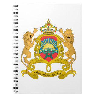 Morocco Coat of Arms Spiral Note Book