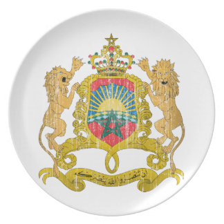 Morocco Coat Of Arms Party Plates