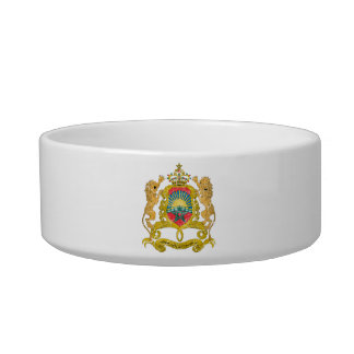 Morocco Coat Of Arms Pet Food Bowl