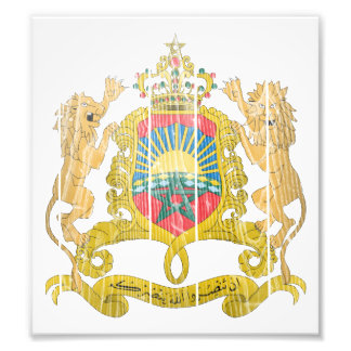 Morocco Coat Of Arms Photograph