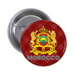 Morocco Coat of Arms Pinback Button