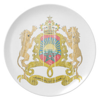 Morocco Coat Of Arms Dinner Plate