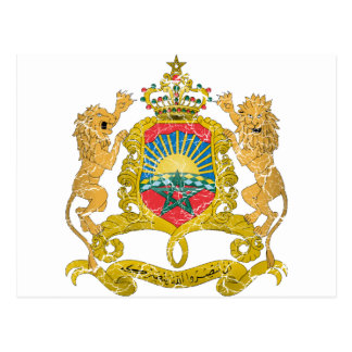 Morocco Coat Of Arms Post Card