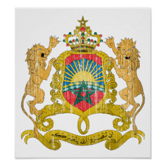 Morocco Coat Of Arms Poster