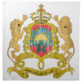 Morocco Coat Of Arms Printed Napkins