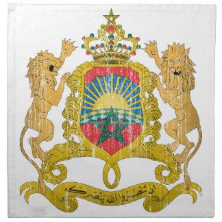 Morocco Coat Of Arms Printed Napkins
