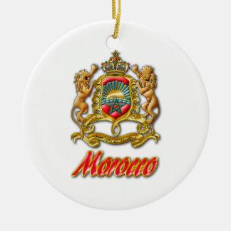 Morocco Coat of Arms Round Ceramic Decoration
