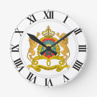 Morocco Coat of Arms Round Clock