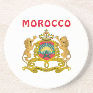 Morocco Coat Of Arms Sandstone Coaster