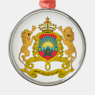 Morocco Coat of Arms Silver-Colored Round Decoration