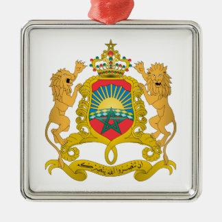 Morocco Coat of Arms Silver-Colored Square Decoration