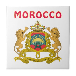 Morocco Coat Of Arms Small Square Tile