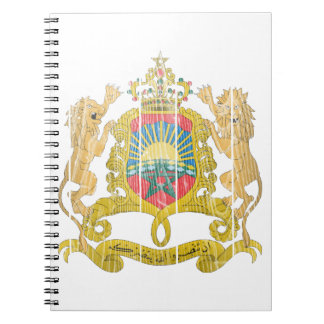 Morocco Coat Of Arms Spiral Notebooks