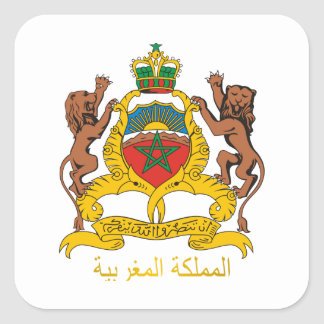 Morocco Coat of Arms Square Sticker