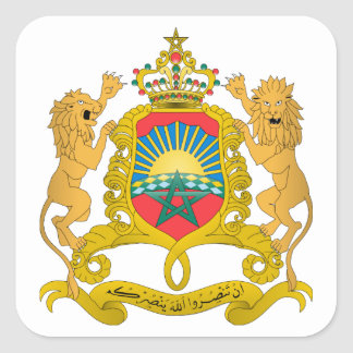 Morocco Coat of Arms Square Sticker