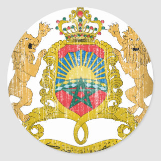 Morocco Coat Of Arms Round Stickers