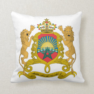 Morocco Coat Of Arms Throw Cushions