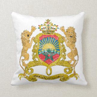 Morocco Coat Of Arms Throw Pillows