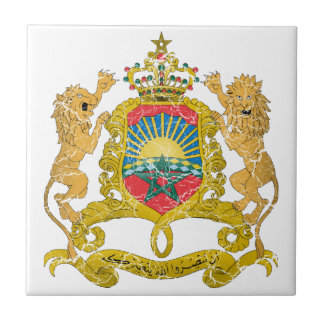 Morocco Coat Of Arms Tiles