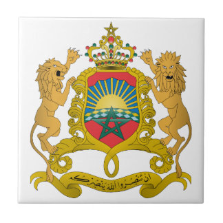 Morocco Coat Of Arms Tile