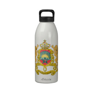 Morocco Coat Of Arms Water Bottles