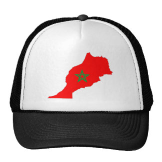 morocco country flag map shape symbol cap