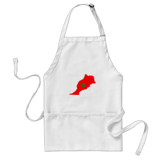 morocco country flag map shape symbol standard apron
