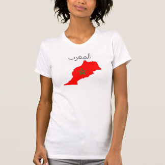 morocco country flag map shape symbol T-Shirt