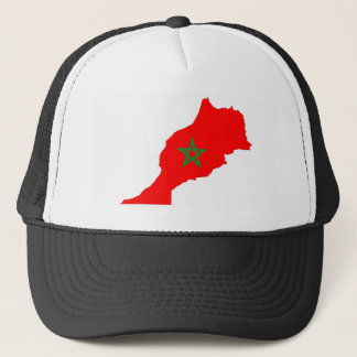 morocco country flag map shape symbol trucker hat