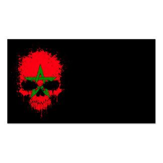 Morocco Dripping Splatter Skull Business Card Template