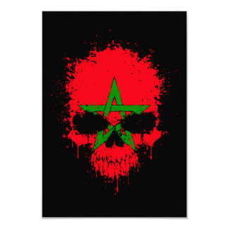 Morocco Dripping Splatter Skull Invitations