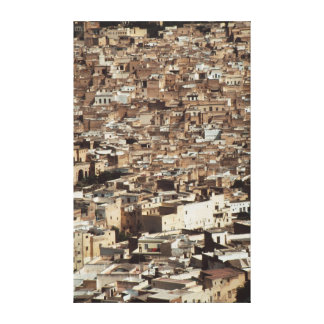 Morocco, Fes, Aerial view of Cityscape Canvas Print