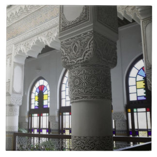 MOROCCO, Fes: Fes El, Bali (Old Fes), Riad Fes Large Square Tile