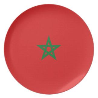 Morocco Fisheye Flag Plate
