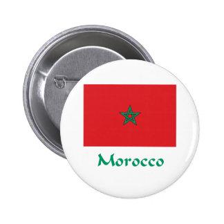 Morocco Flag 6 Cm Round Badge