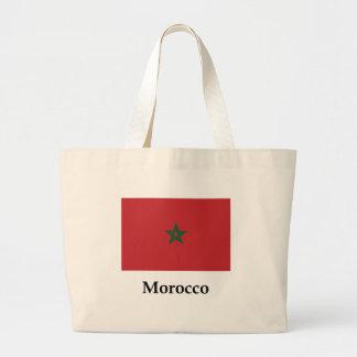 Morocco Flag And Name Jumbo Tote Bag