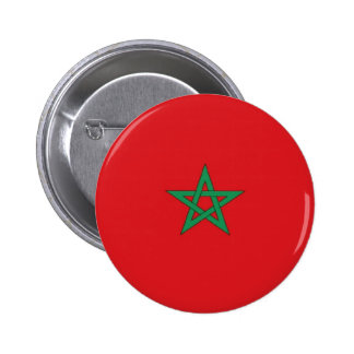 Morocco Flag Pinback Buttons