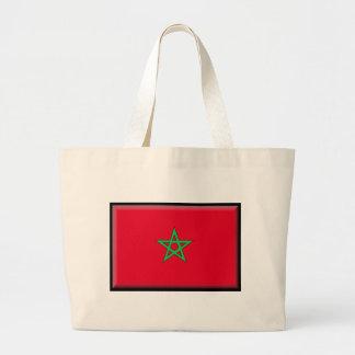 Morocco Flag Tote Bags