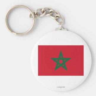 Morocco Flag Basic Round Button Key Ring