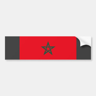 Morocco Flag Car Bumper Sticker