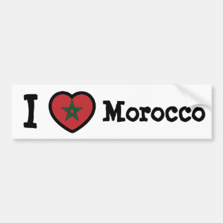 Morocco Flag Bumper Sticker