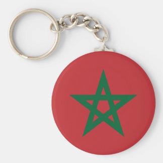 Morocco Flag Button Keychain