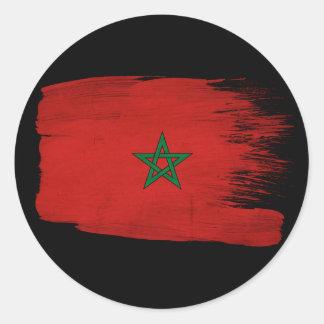 Morocco Flag Classic Round Sticker