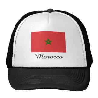 Morocco Flag Design Trucker Hats