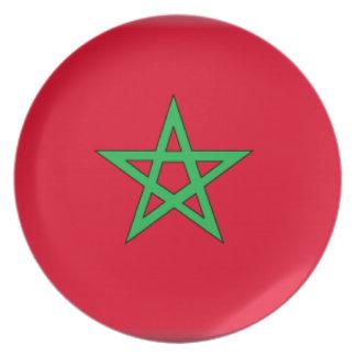 Morocco Flag Dinner Plate