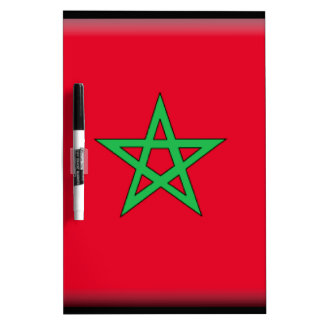 Morocco Flag Dry Erase Whiteboards