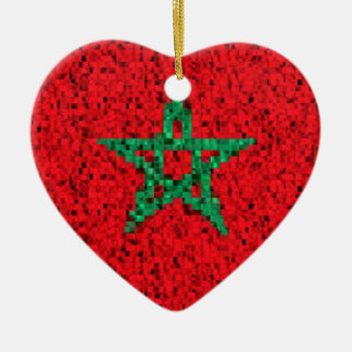 Morocco Flag glitter ornament